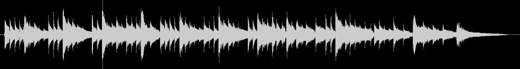 静かなアコースティックギターBGMの未再生の波形