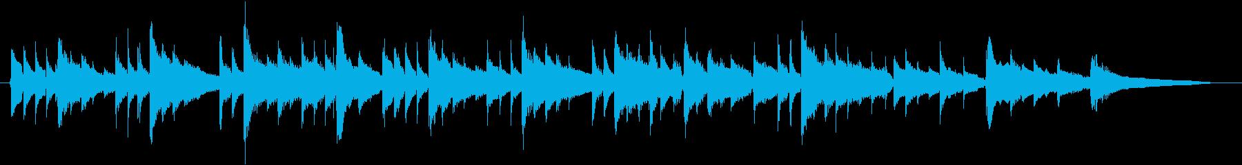 静かなアコースティックギターBGMの再生済みの波形