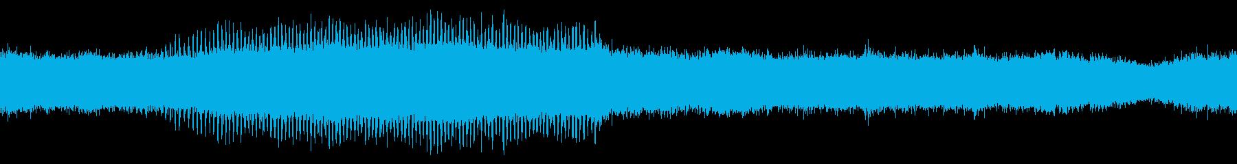 環境音蝉の鳴き声ミンミン1分ループ処理の再生済みの波形