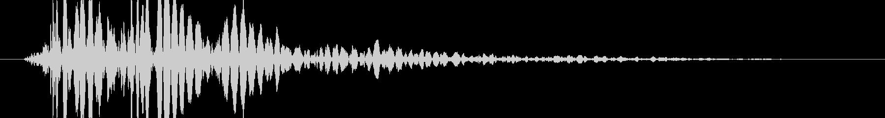 ゲーム ブロック・ロゴ落下 ドーンの未再生の波形