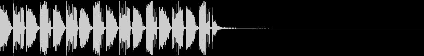 スローテンポEDMジングル2の未再生の波形