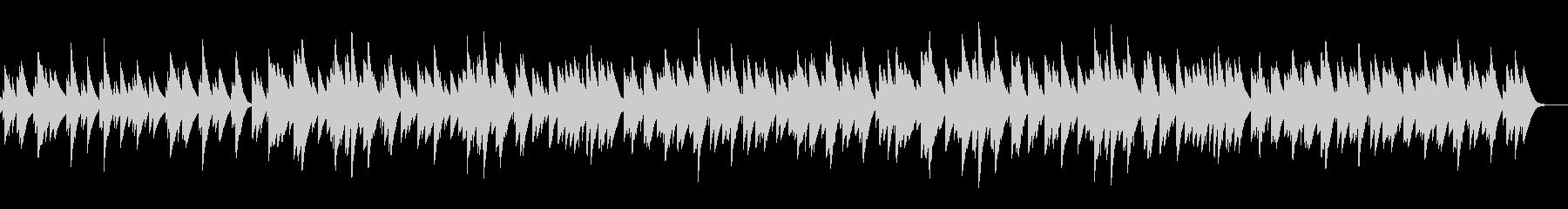 オルゴールソロの楽曲の未再生の波形