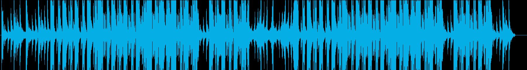 琴が鳴る怪しいヒップホップ風の楽曲の再生済みの波形