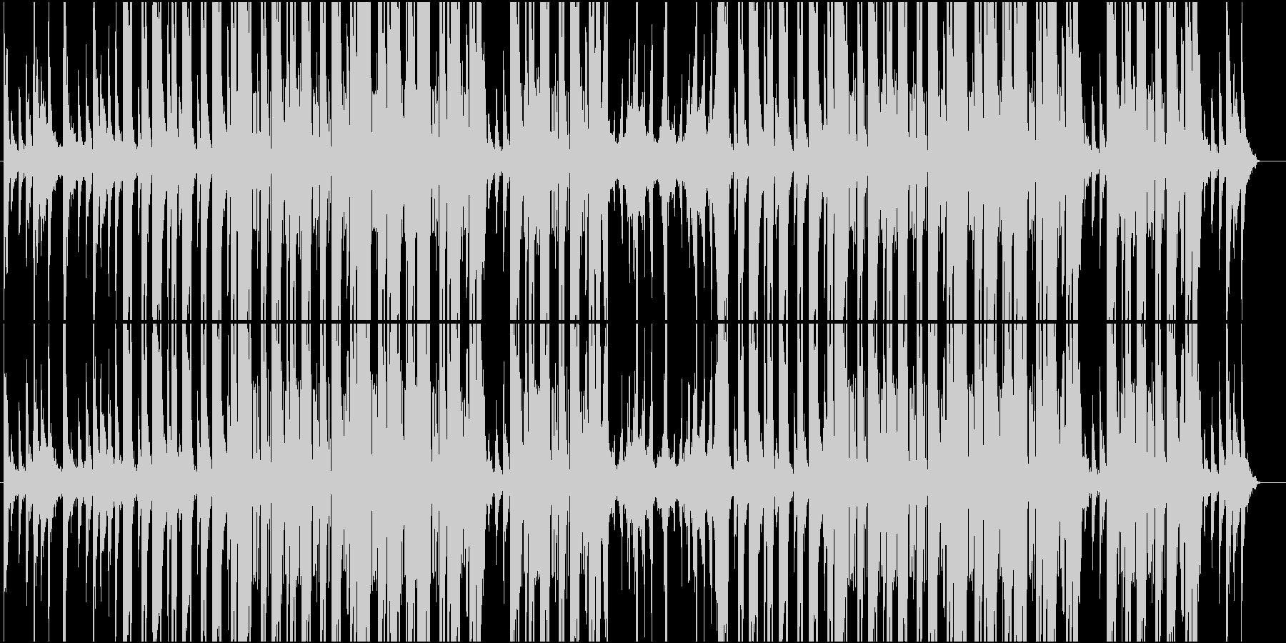 琴が鳴る怪しいヒップホップ風の楽曲の未再生の波形