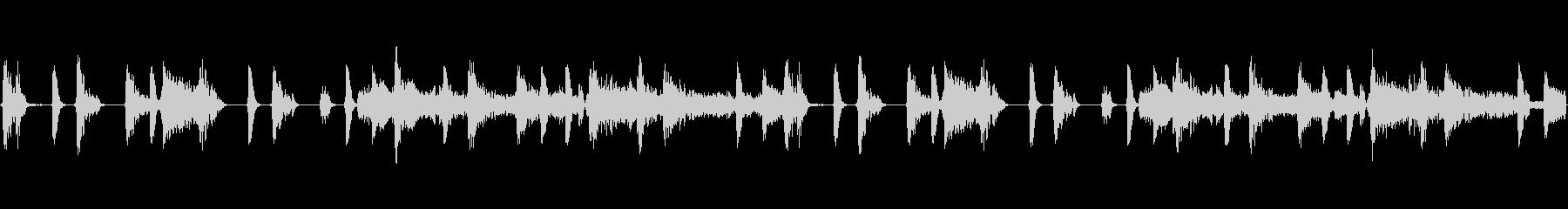 刑事ドラマの追跡シーンをイメージした楽曲の未再生の波形