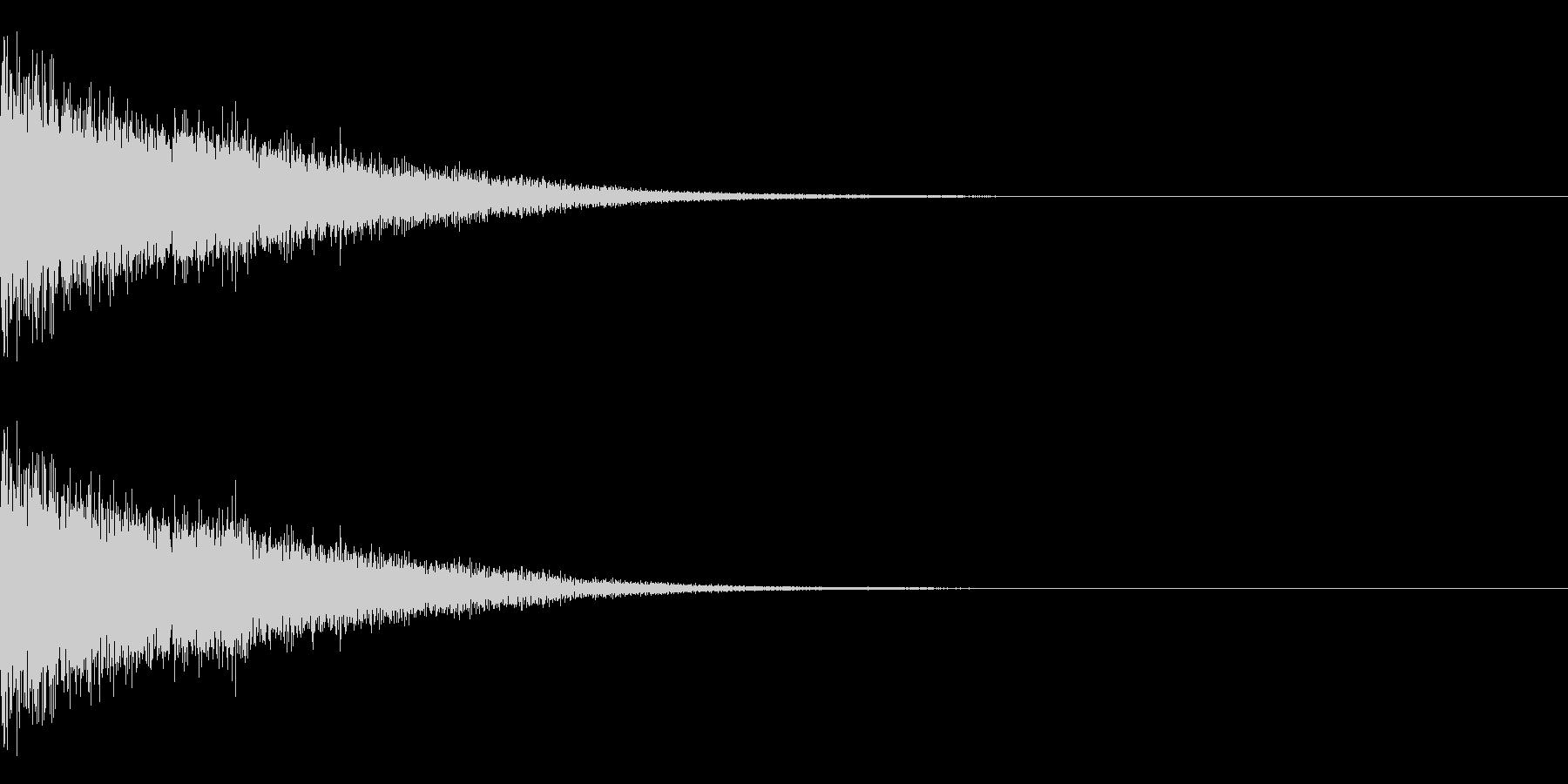 剣と剣の打合い-02の未再生の波形