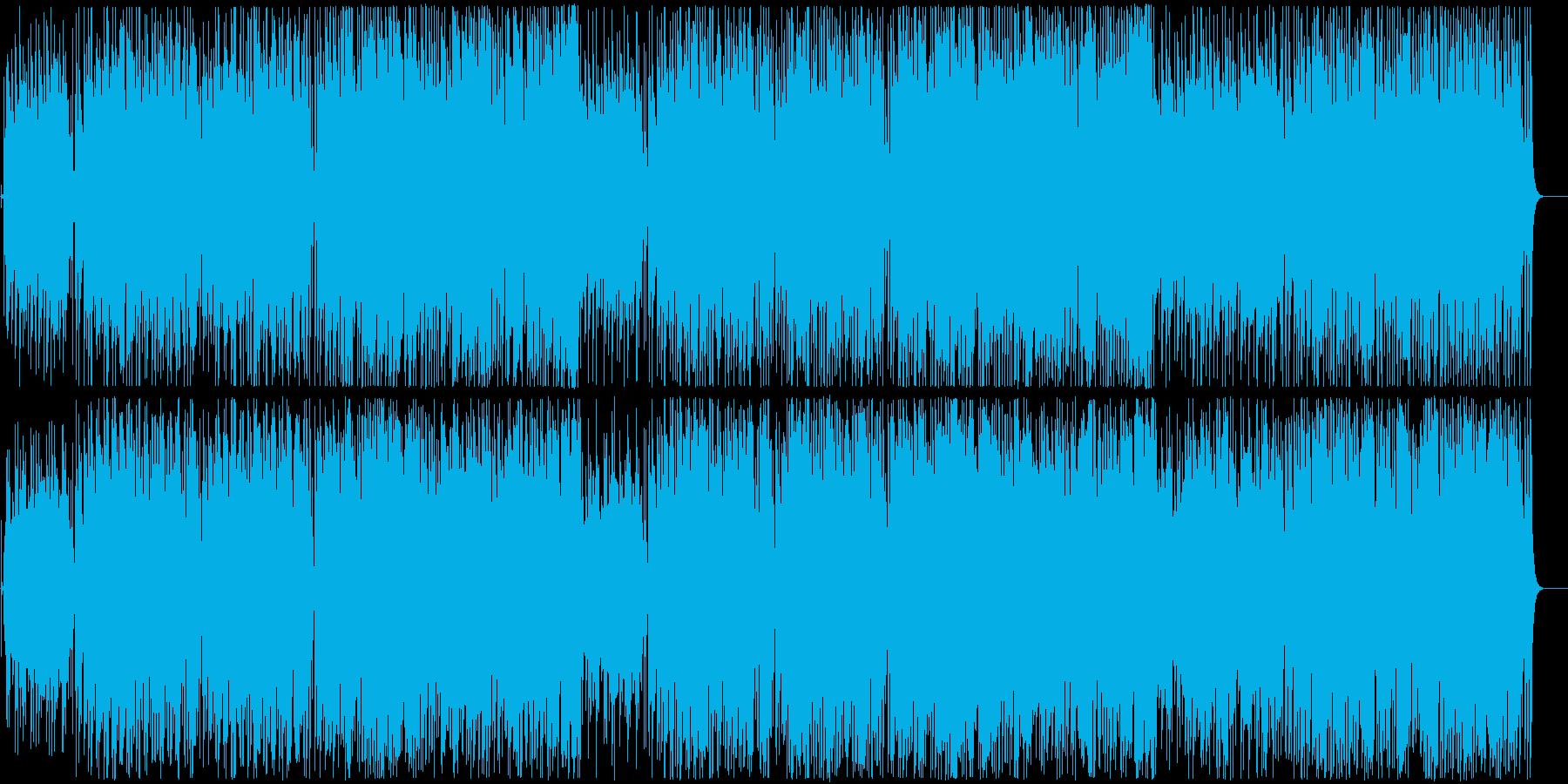 フワフワ浮いているようなポップな音楽の再生済みの波形