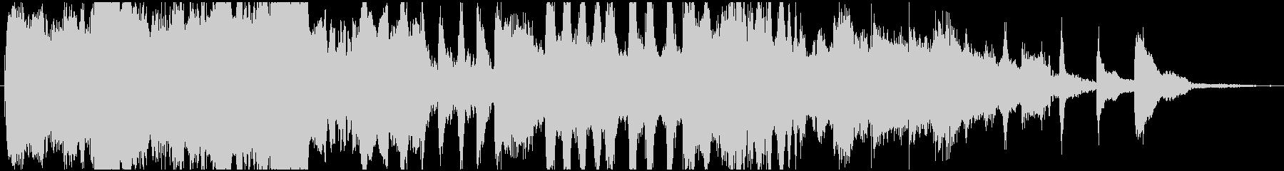 可愛らしいオーケストラワルツのジングルの未再生の波形