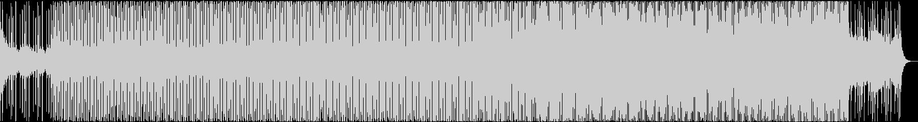 疾走感、アップテンポ、シンセ、4つ打ちの未再生の波形