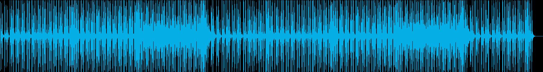 ウキウキでワクワクなピアノの軽快ブルースの再生済みの波形