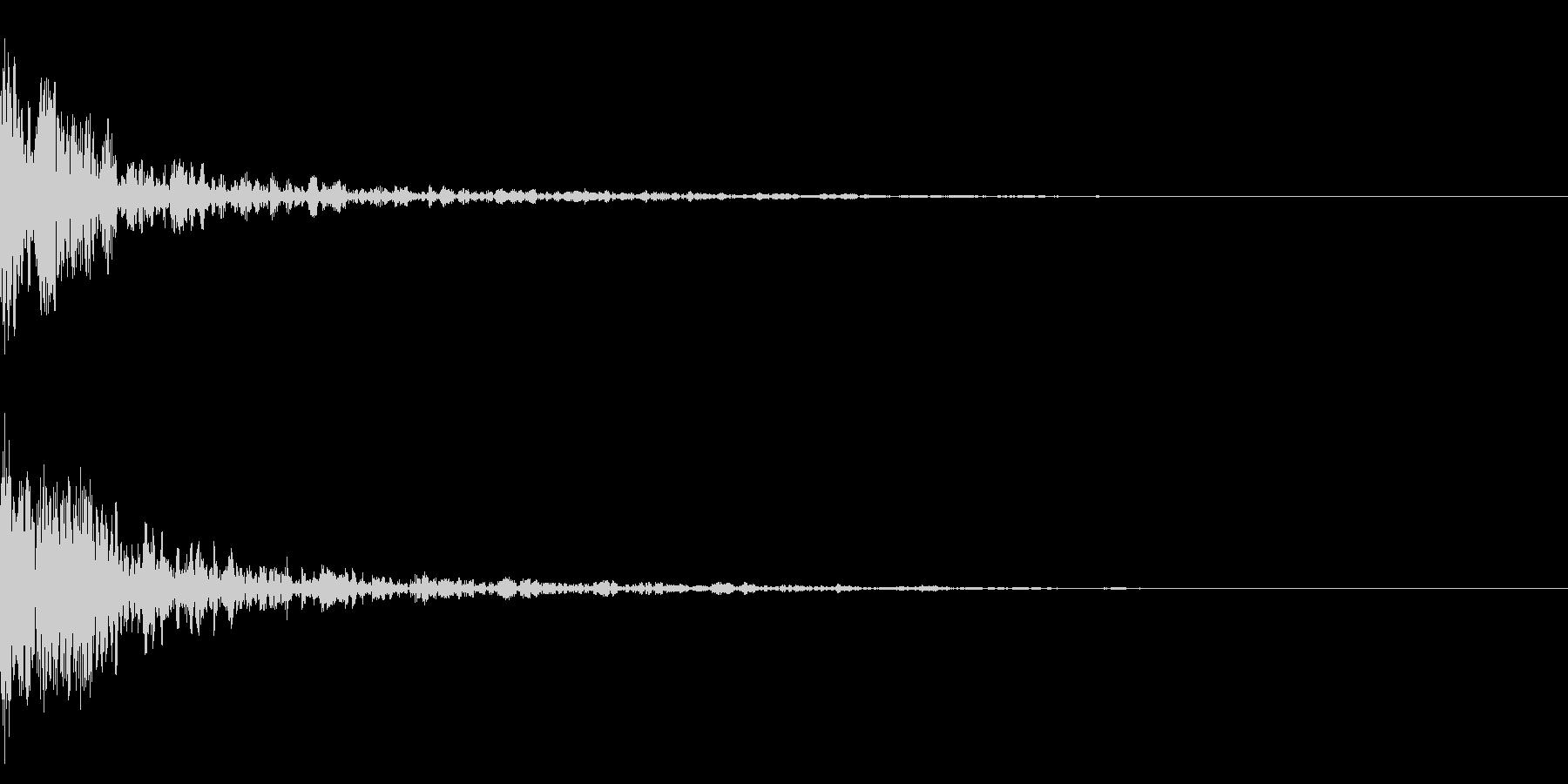 ドーン-24-1(インパクト音)の未再生の波形