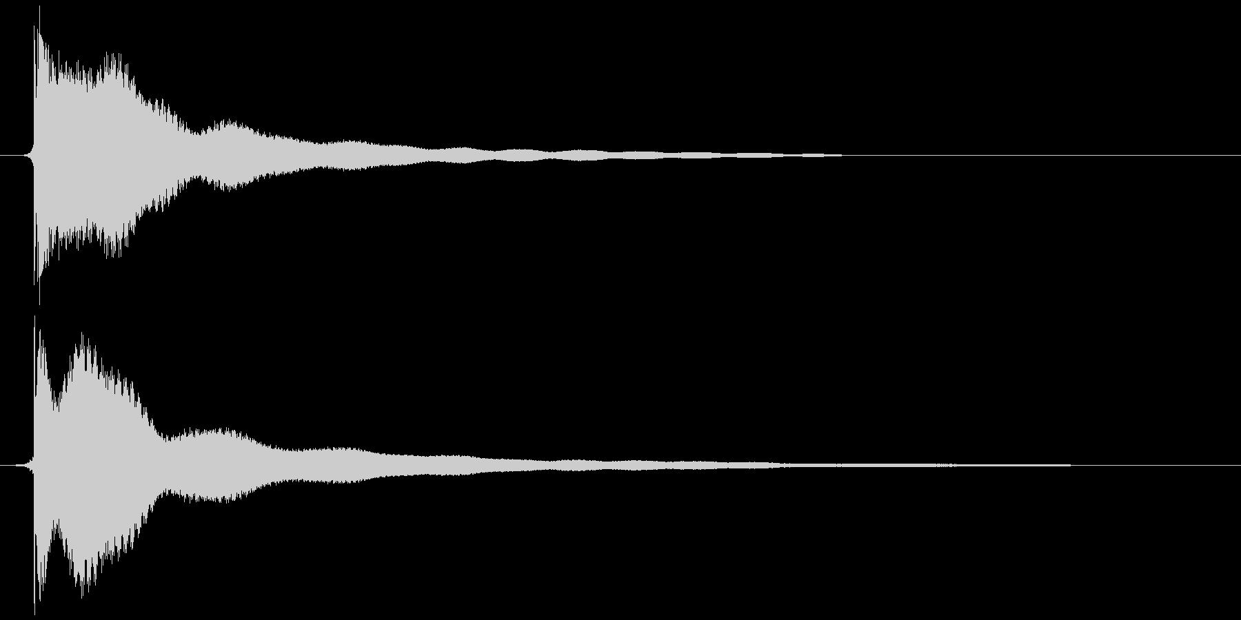 電子レンジ カッ+チーンの未再生の波形