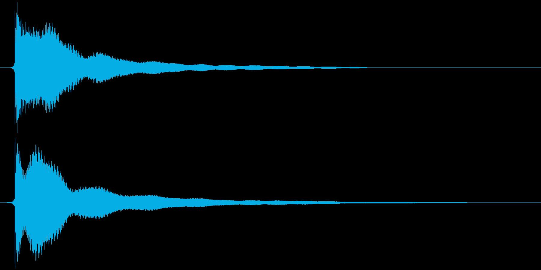 電子レンジ カッ+チーンの再生済みの波形