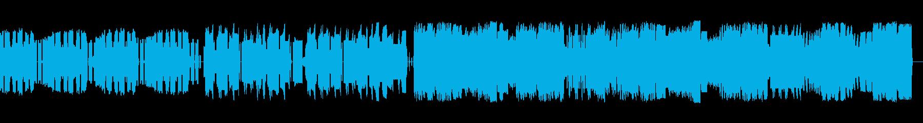 ファミコン音源によるバラード曲の再生済みの波形