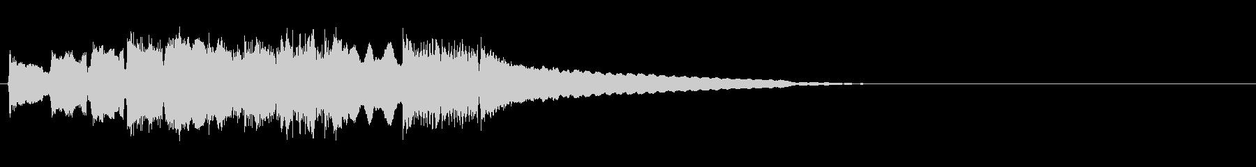 哀愁あるギターのジングルの未再生の波形