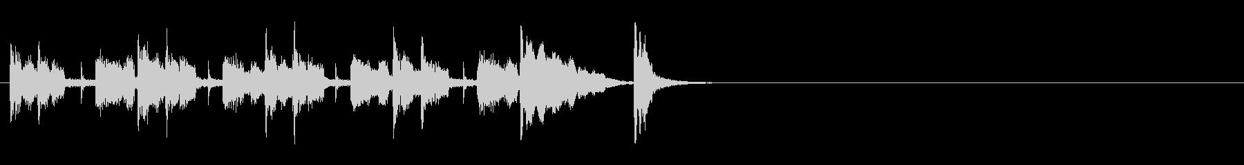 クイズ・アトラクション用ジングルの未再生の波形