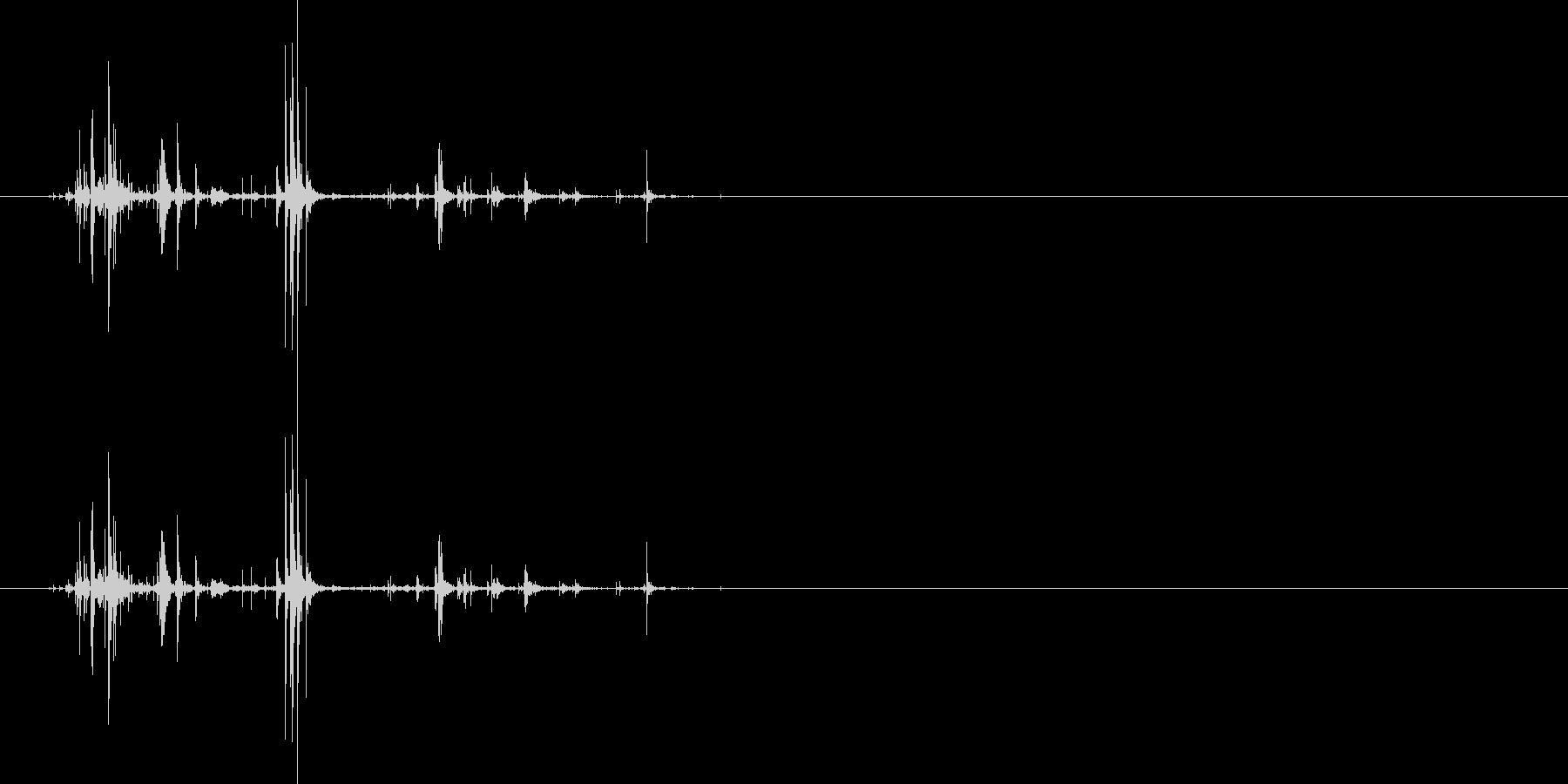 ネバネバしたものを潰す音7の未再生の波形