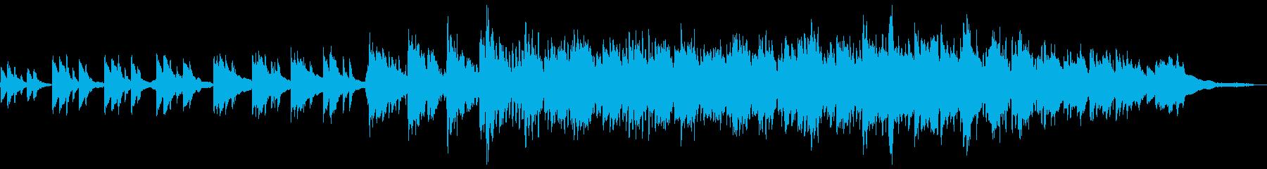 雨をイメージしたピアノ・木管・弦のBGMの再生済みの波形