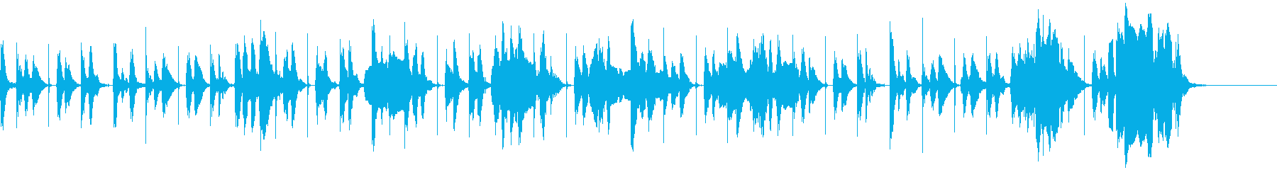 サスペンス~ブルースの進行で犯人の追跡~の再生済みの波形