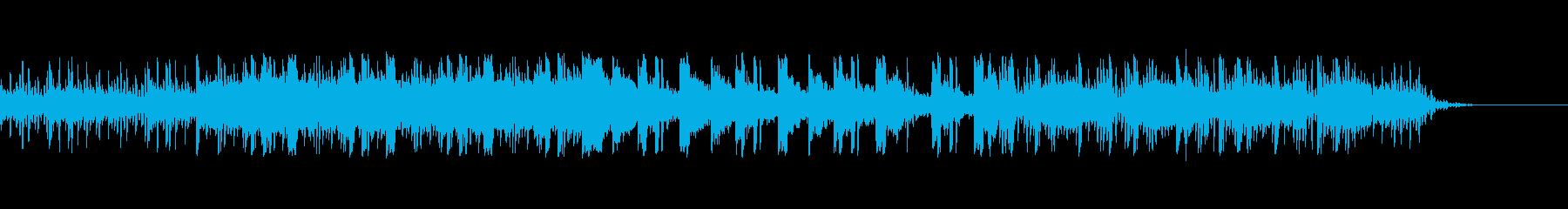 ミステリアスで緊張感のあるイメージの楽曲の再生済みの波形