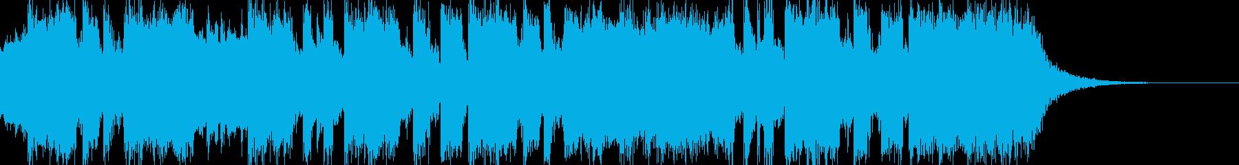 ニュースに合いそうな曲調の再生済みの波形