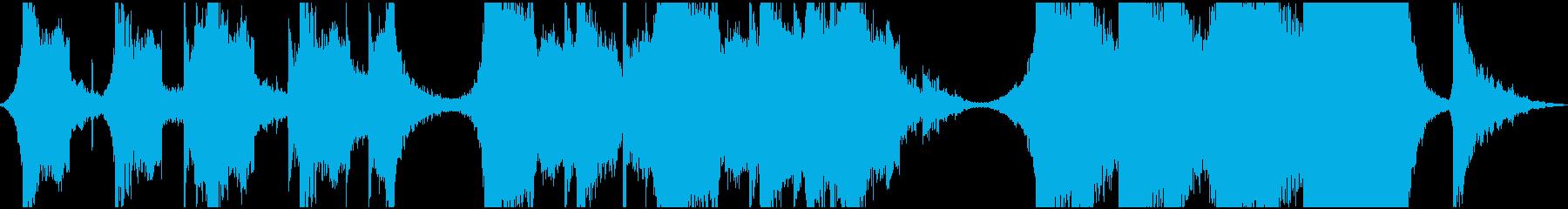 緊迫感のあるエピック系BGMの再生済みの波形