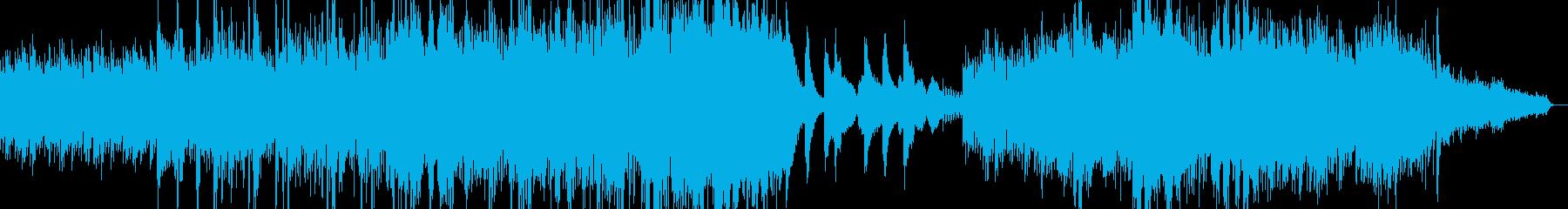 シネマティックなピアノにストリングスの再生済みの波形