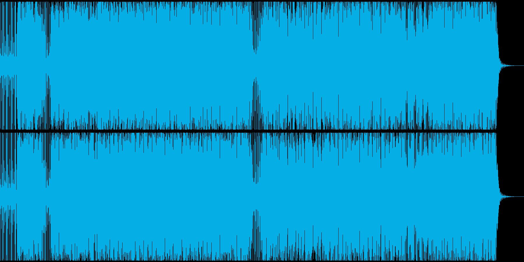 不安定で不気味なサイケサウンドEDMの再生済みの波形