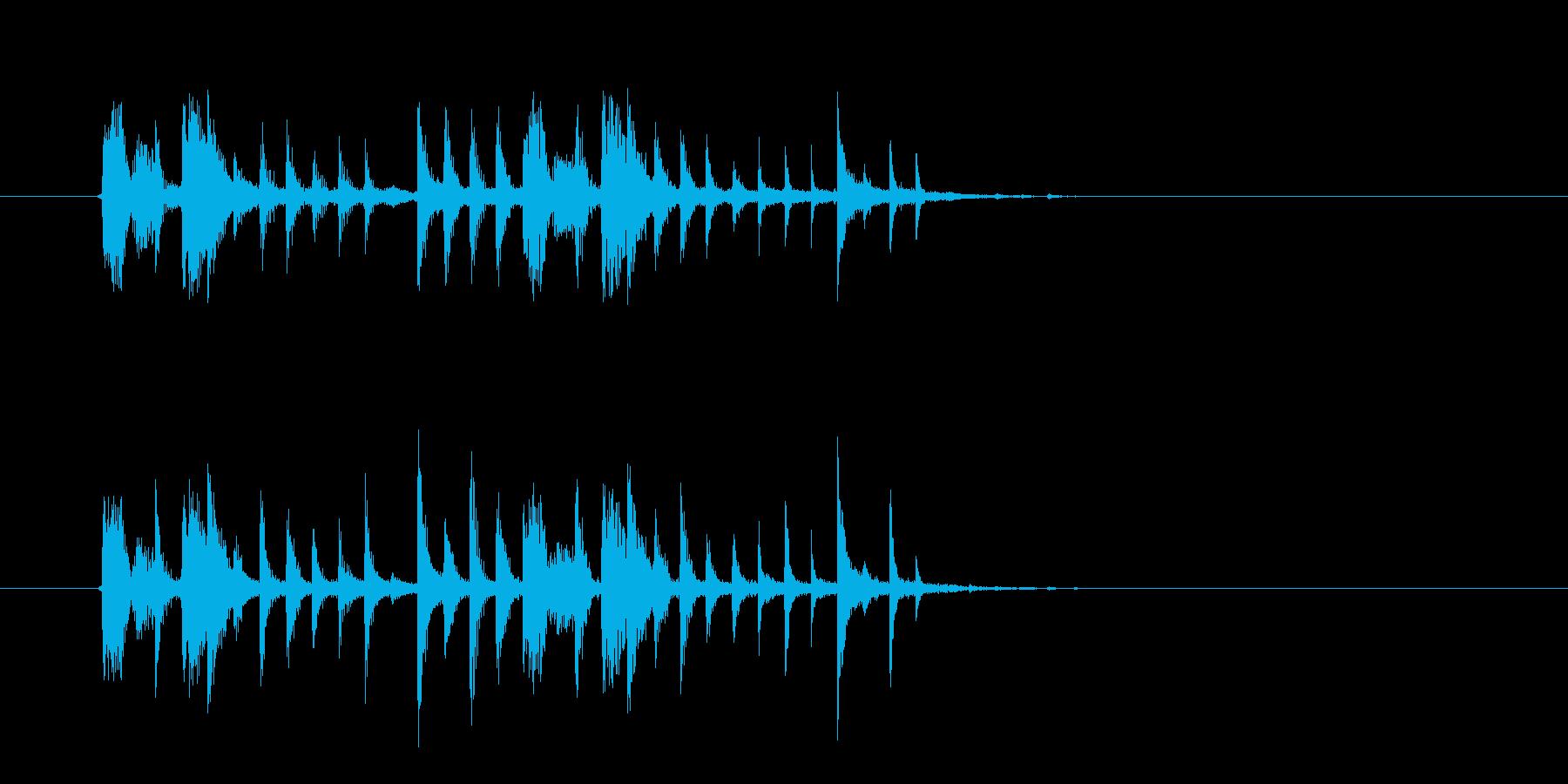 クールでスタイリッシュなテクノの再生済みの波形