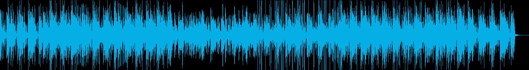 エレクトロピアノの軽快な楽曲の再生済みの波形