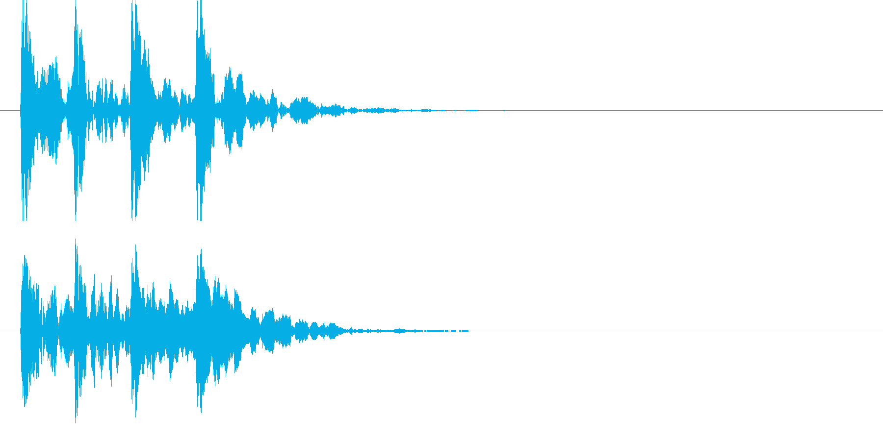 トントントントンの再生済みの波形