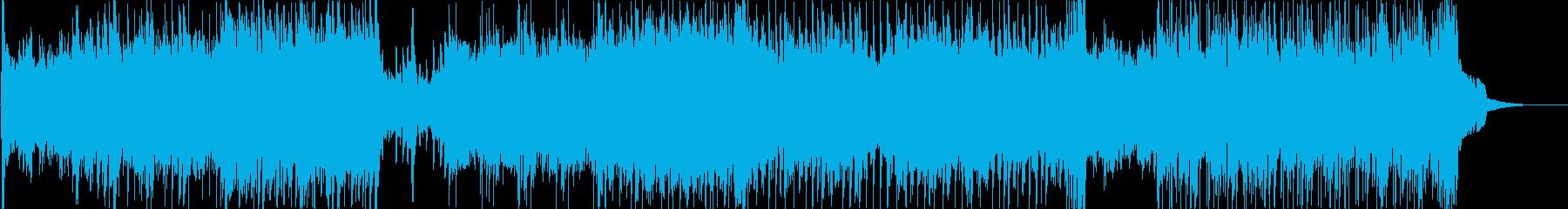 ダーティーなロック調の戦闘用BGMの再生済みの波形