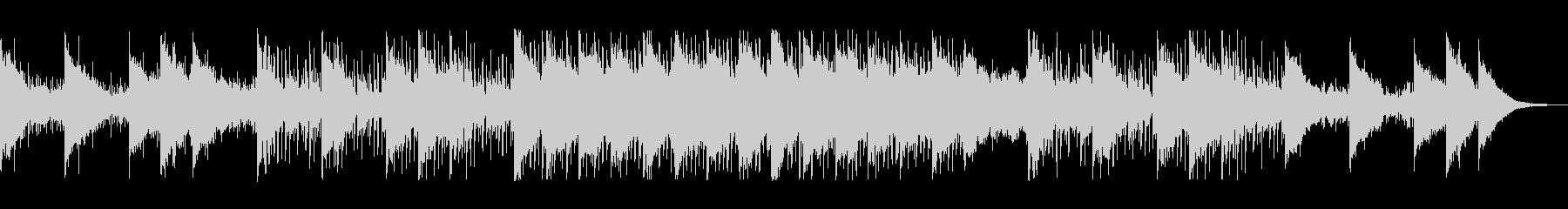電子音の混じりの滑らかなテンポのテクノ音の未再生の波形