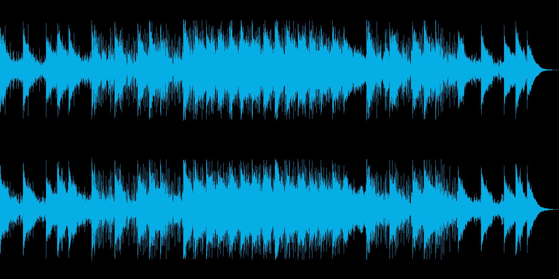 電子音の混じりの滑らかなテンポのテクノ音の再生済みの波形