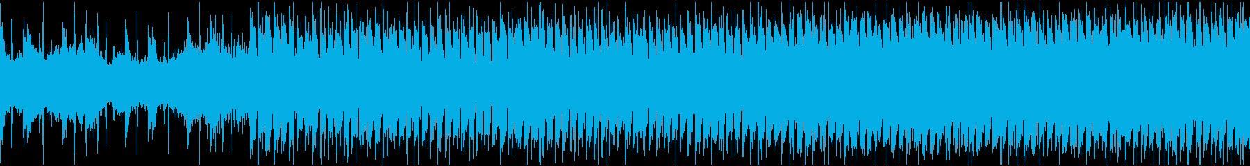 疾走感と緩急のあるシンセリード・ループの再生済みの波形