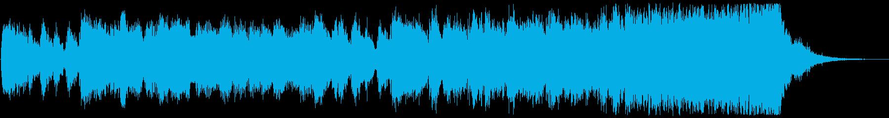 華やかで力強いファンファーレの再生済みの波形