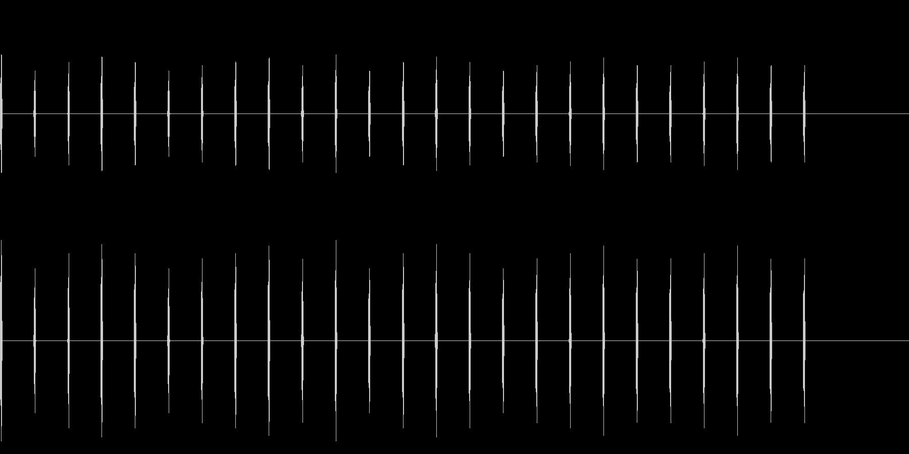 足音 歩く コミカル02の未再生の波形