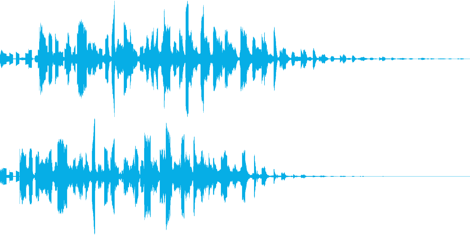ロボットの鳥の機械的な鳴き声の再生済みの波形