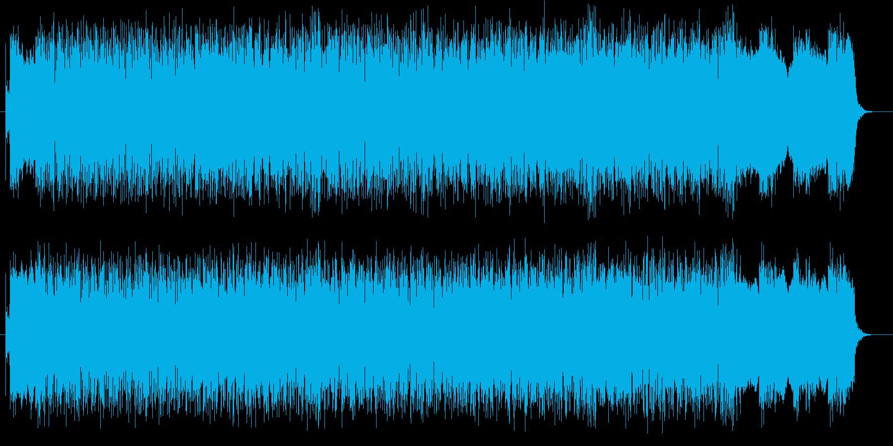 疾走感と迫力があるシンセポップスの再生済みの波形