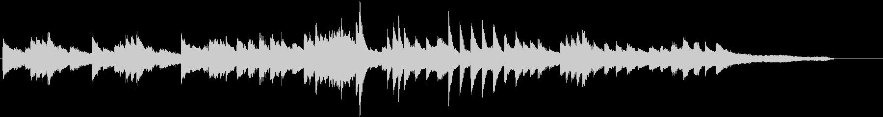 バラードに都音階を入れた和ピアノジングルの未再生の波形