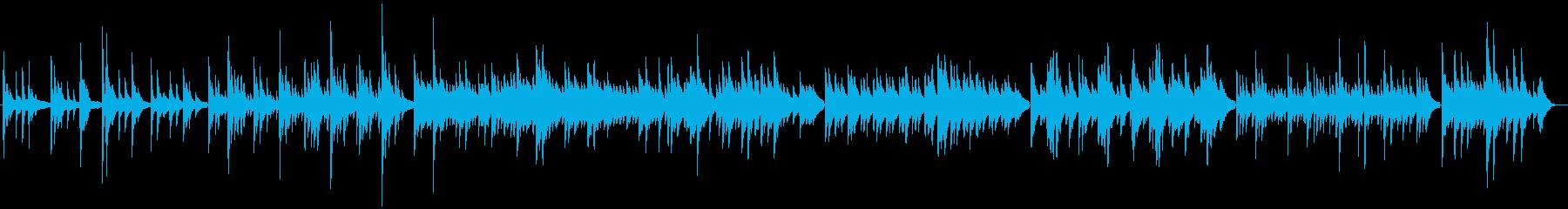 さみしげなグランドピアノ・バラード曲の再生済みの波形