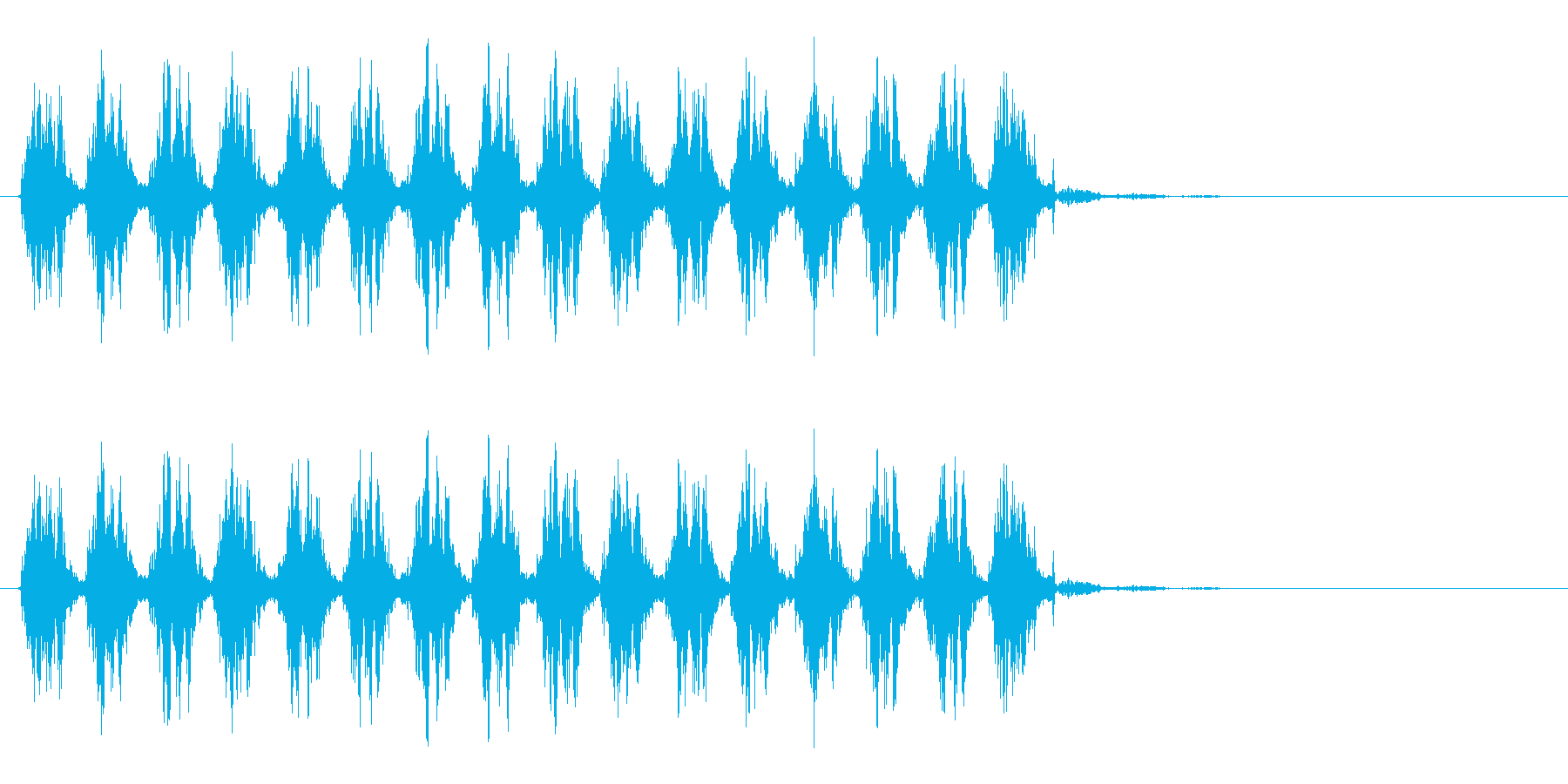 じたばたじたばた(ジタバタする音)の再生済みの波形
