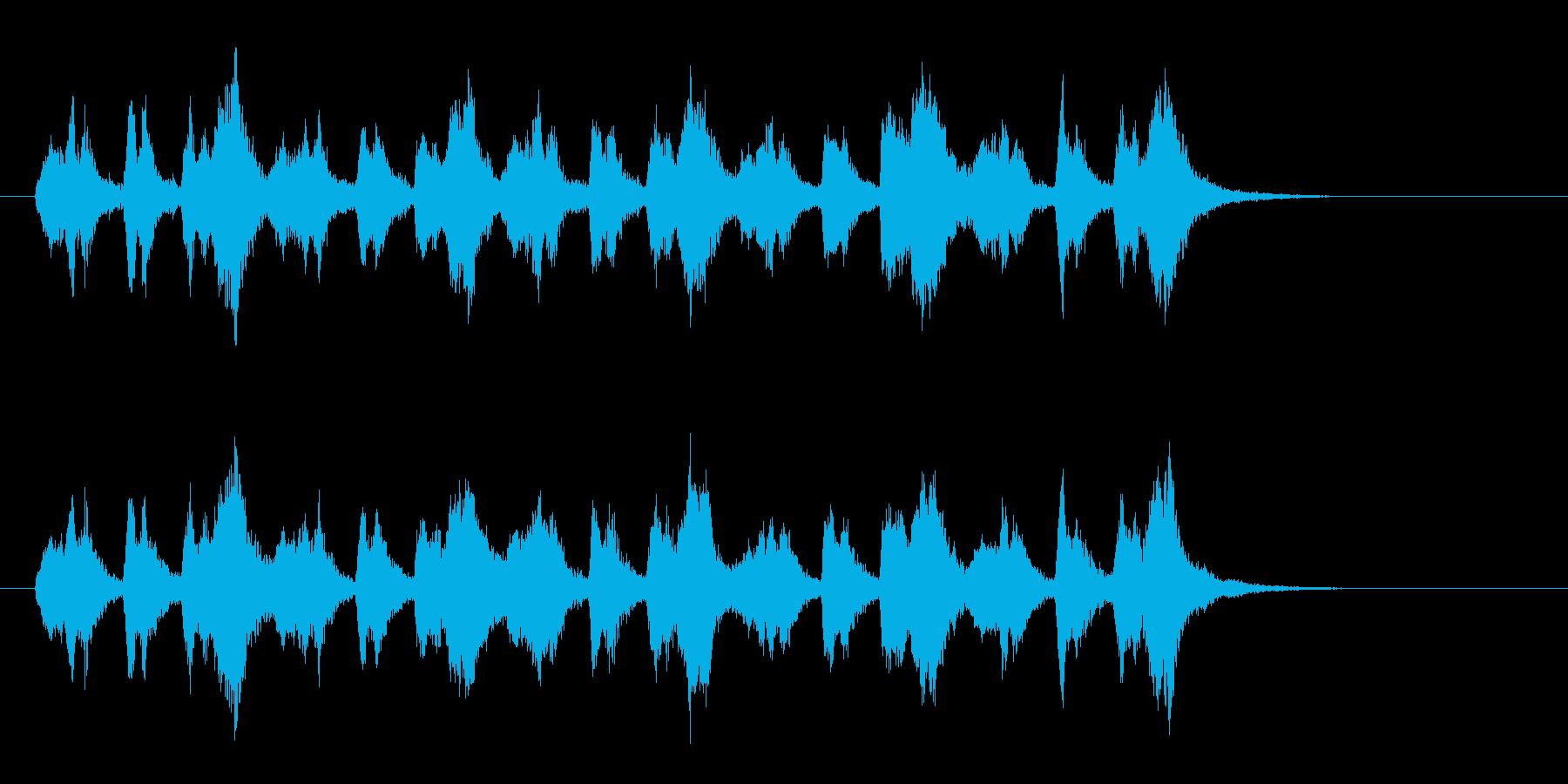 緊迫感があるシンセの響きが特徴のBGMの再生済みの波形