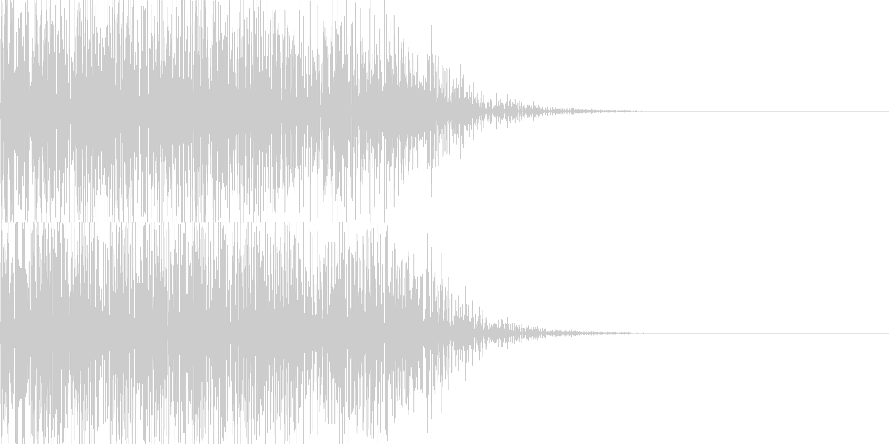 ドーン映画予告風インパクト05の未再生の波形