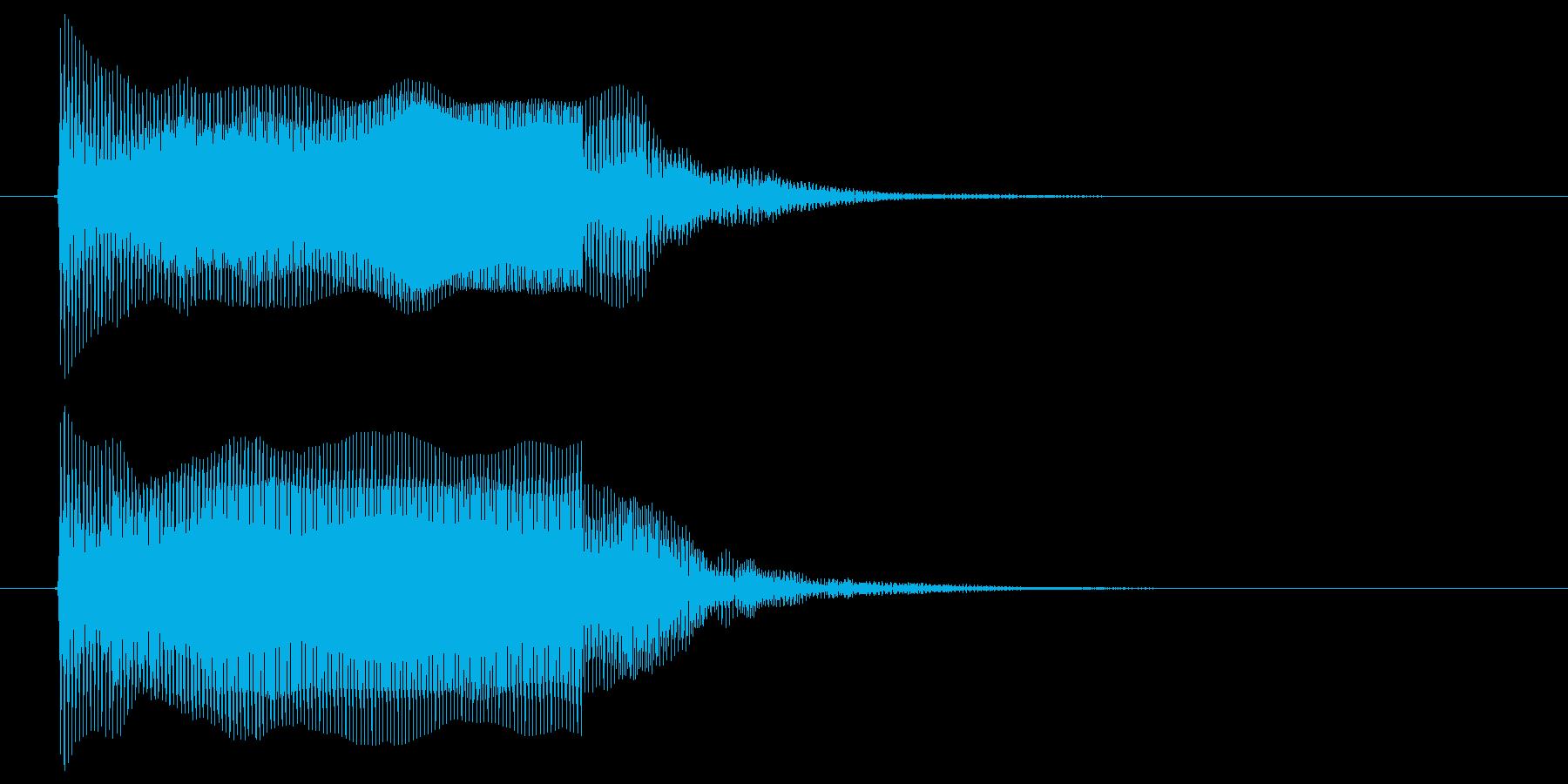 カウントダウン ピッ プッ ぴ アラームの再生済みの波形