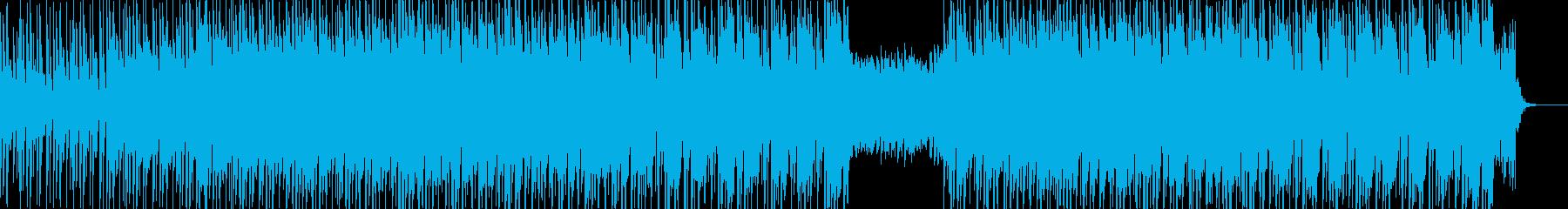 楽しげなリズムの和太鼓と尺八の和風曲の再生済みの波形