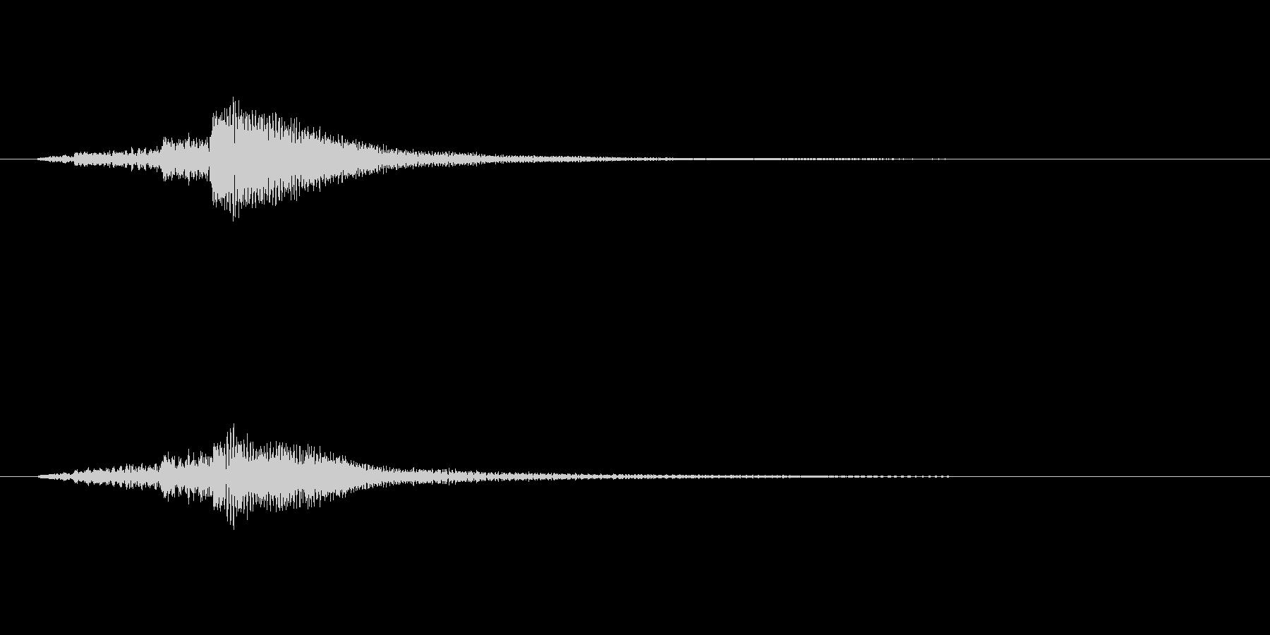 ハープのグリッサンド・ファーストミートの未再生の波形
