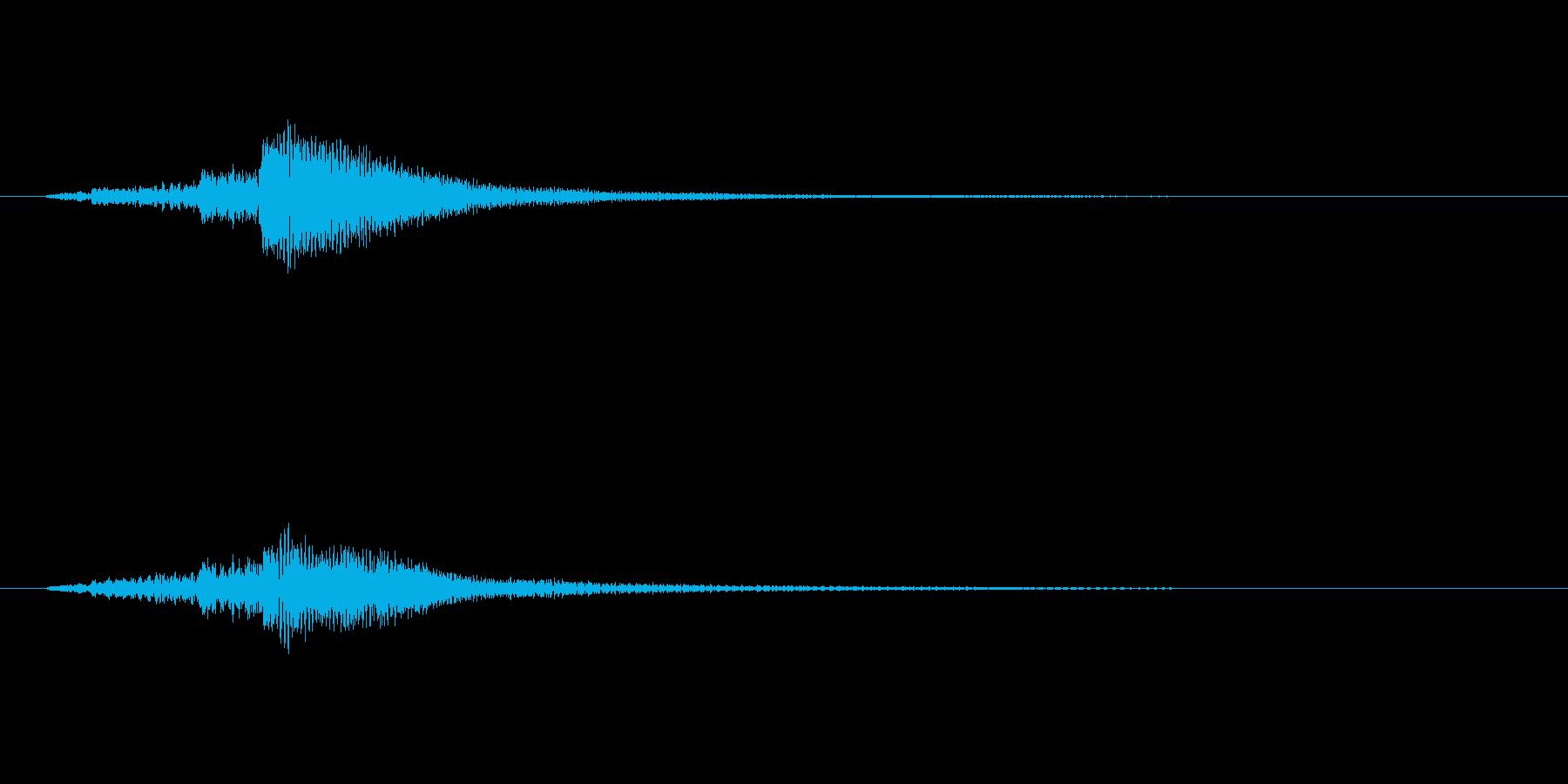 ハープのグリッサンド・ファーストミートの再生済みの波形