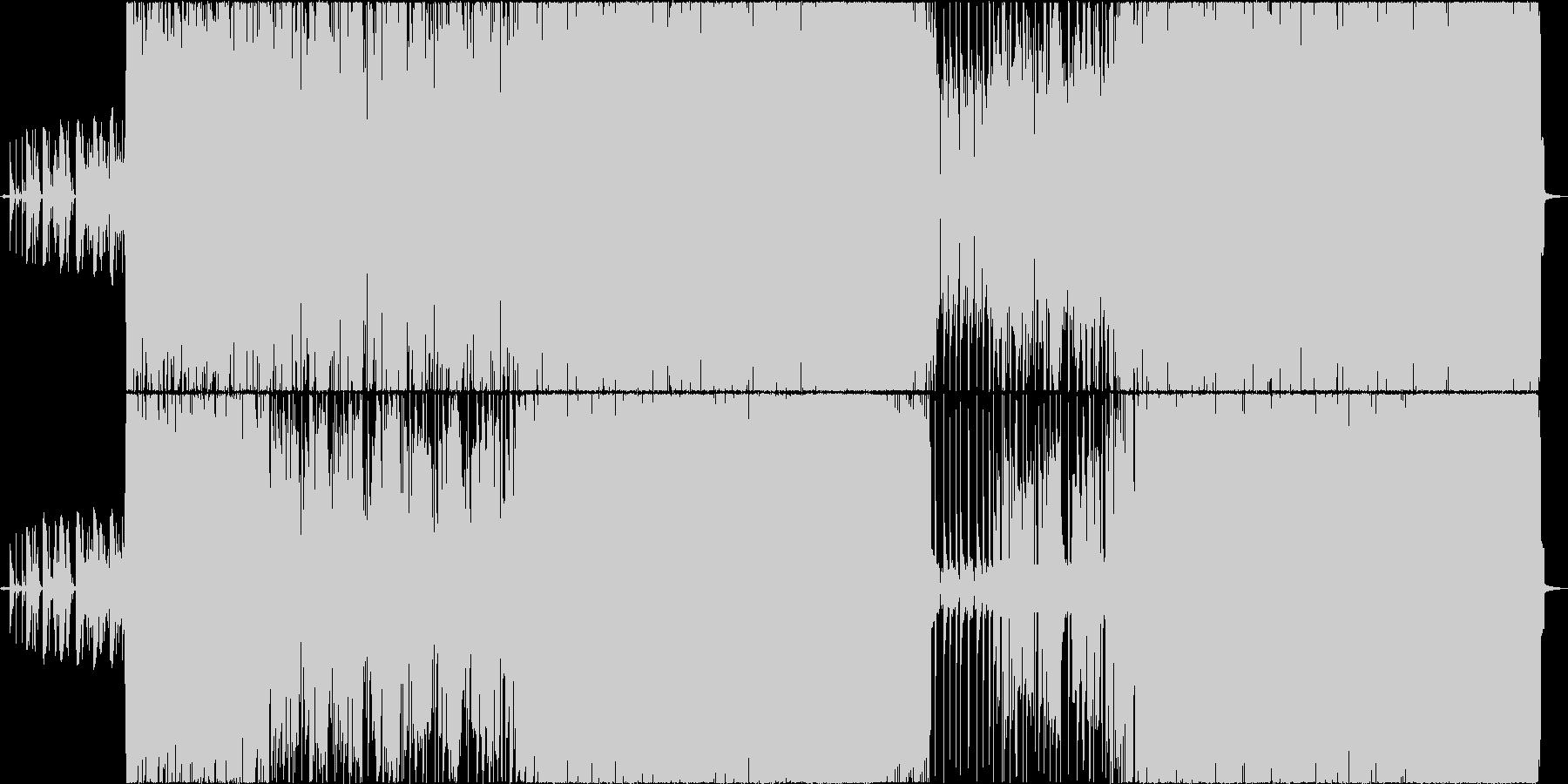 90年代洋楽風重いギターロックの未再生の波形