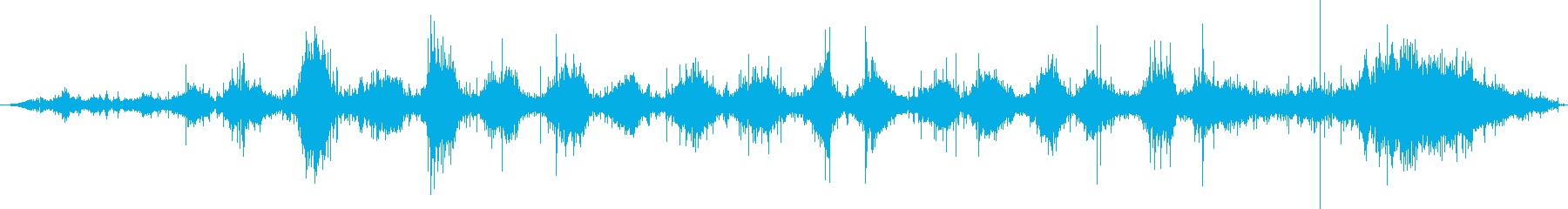 ダウンヒルスキー:オンボード:スキ...の再生済みの波形